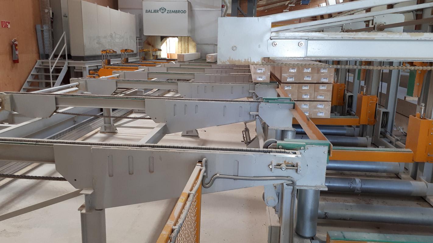 Abbundanlage - Baljer & Zembrod – 5 Achsenanlage – Industrieausführung – Baujahr- 2001 Neuer Standort Kanada