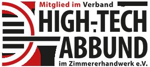 Hightech Abbund Logo weiß
